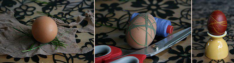 подготовка яиц к окраске в луковой шелухе
