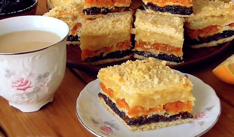 Трехслойный татарский пирог
