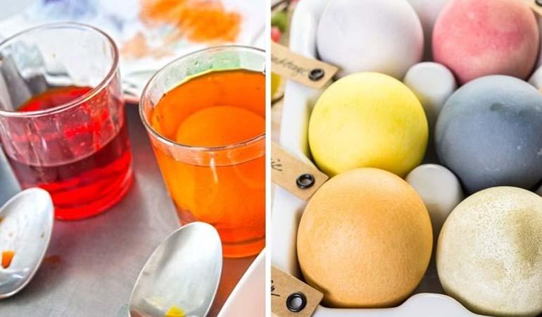 натурально окрашенные яйца