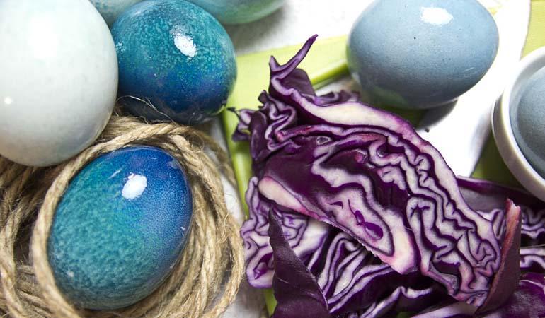 окраска яиц красной капустой
