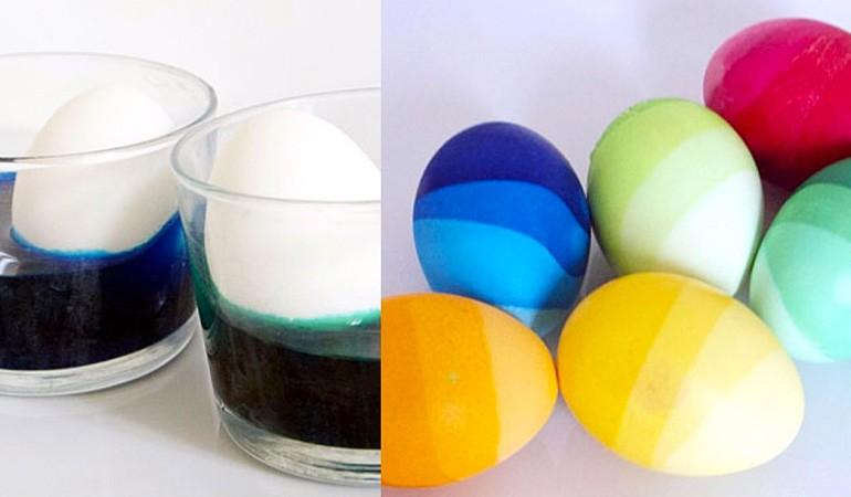 градиентное окрашивание яиц