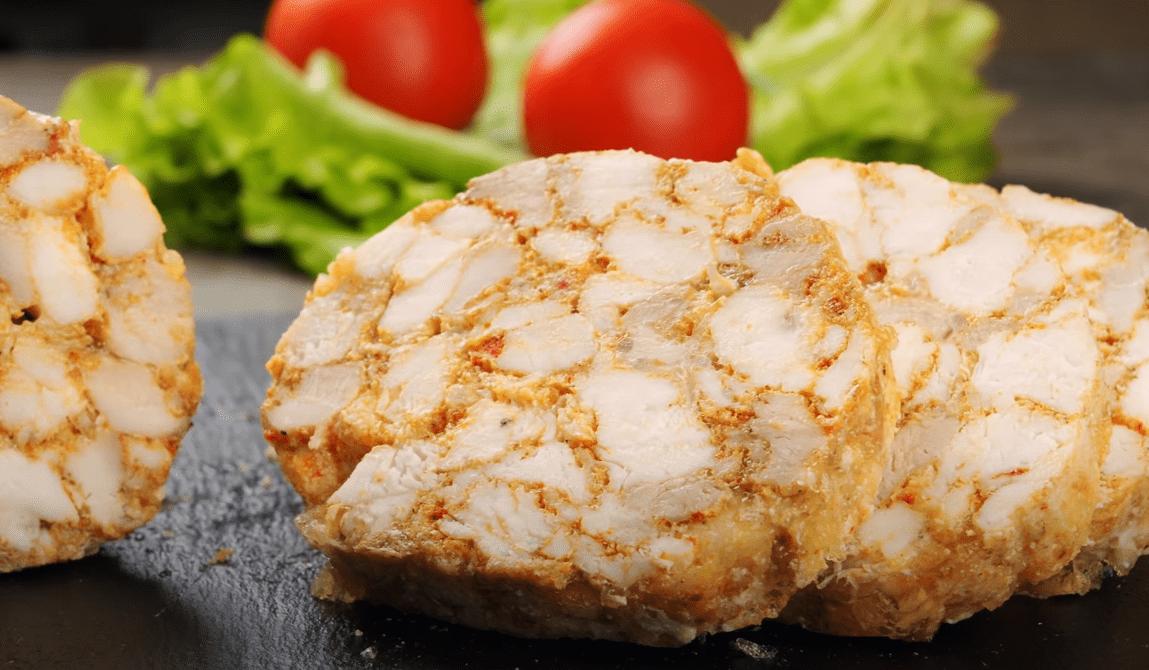 домашняя колбаса из курицы