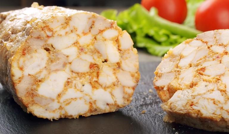 колбаса из курицы с желатином
