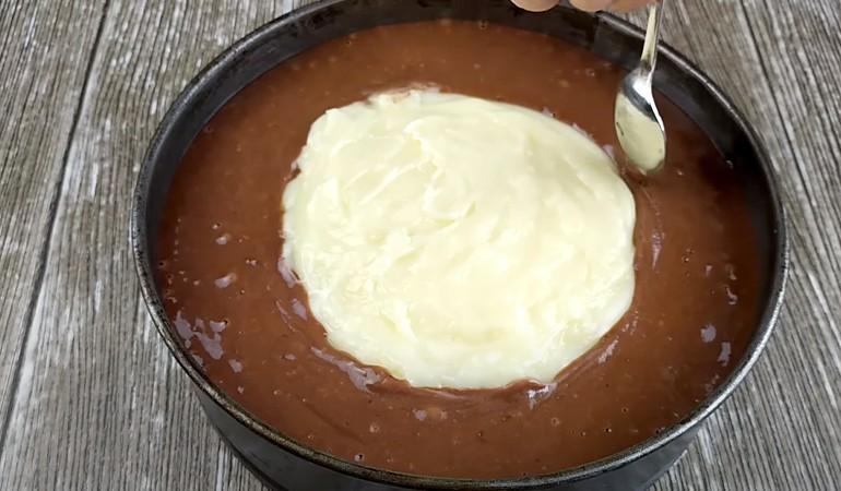 тесто с кремовой начинкой