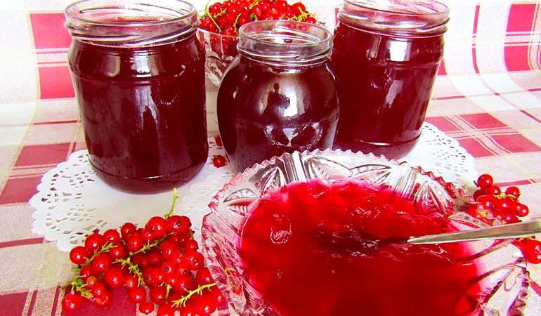 желе из красной смородины на зиму - простой рецепт