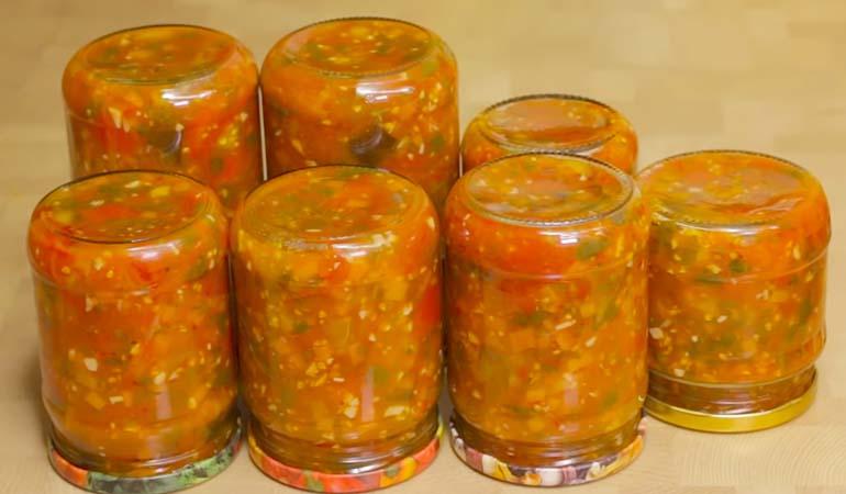 готовый салат Анкл Бенс с баклажанами и помидорами