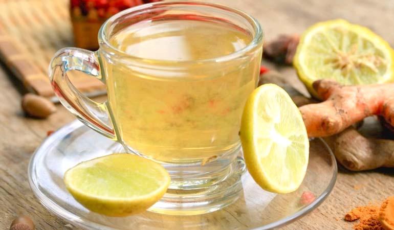 куркума, мед, лимон, вода